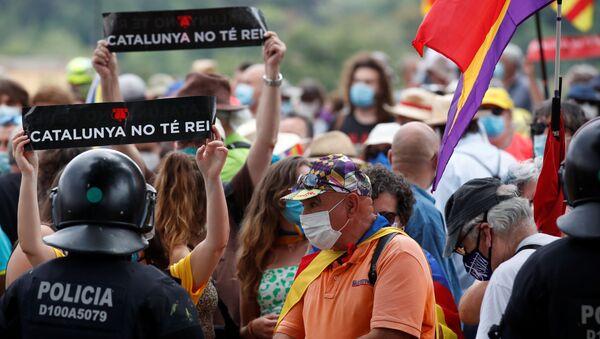 Una protesta contra el Rey en Cataluña - Sputnik Mundo