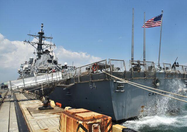 Un buque de EEUU en un puerto ucraniano