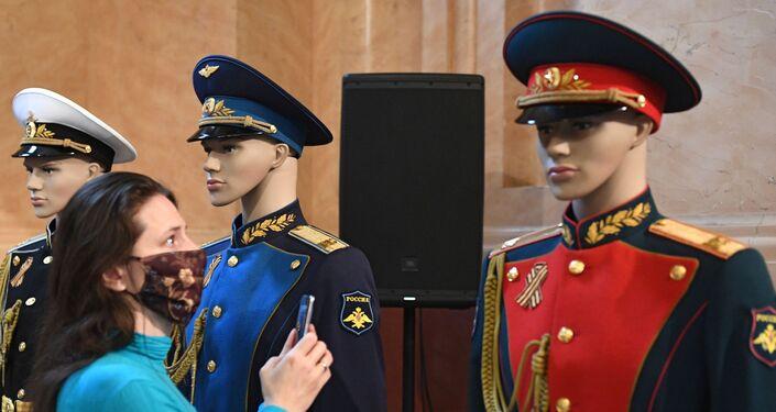 Muestra de uniformes en el Museo Histórico de Moscú