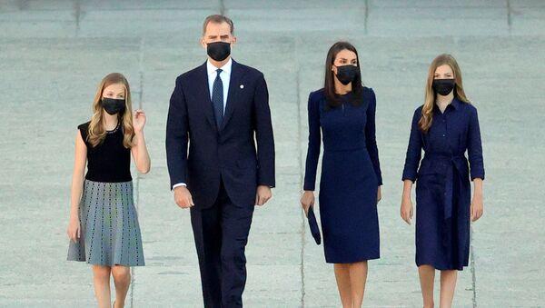 Familia Real de España: la princesa Leonor, el rey Felipe VI, la reina Letizia y la princesa Sofía - Sputnik Mundo