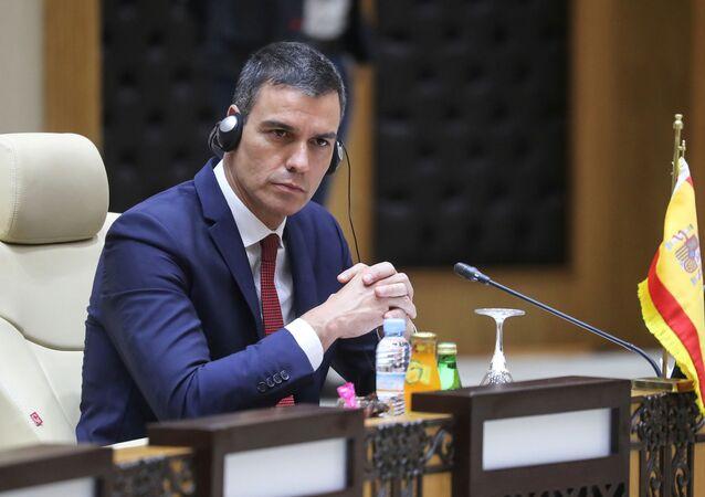 Pedro Sánchez, presidente del Gobierno de España en la G5 Sahel, 30 de junio de 2020
