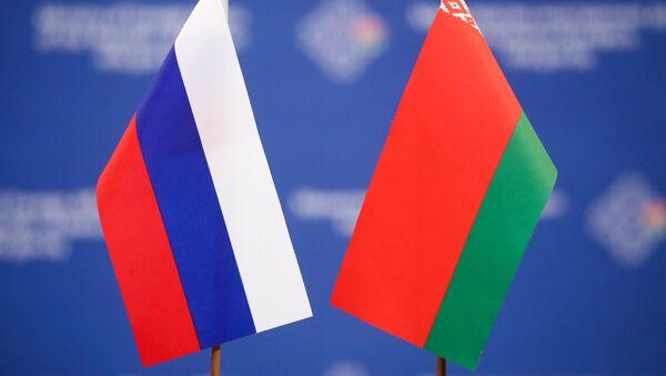 Banderas de Rusia y Bielorrusia - Sputnik Mundo