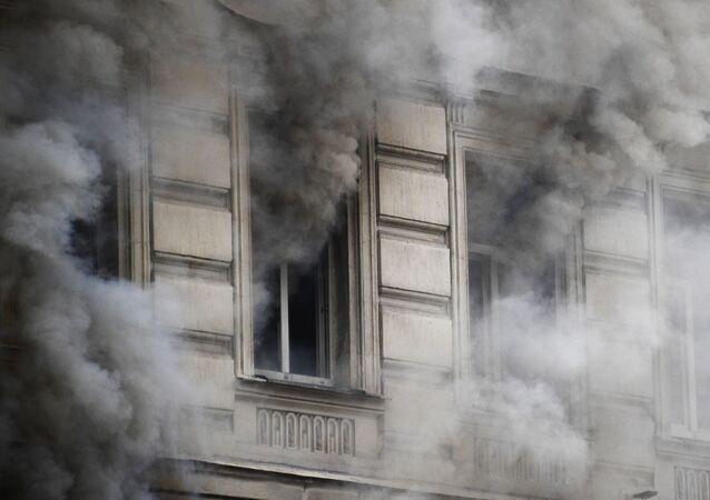 Incendio, foto de archivo
