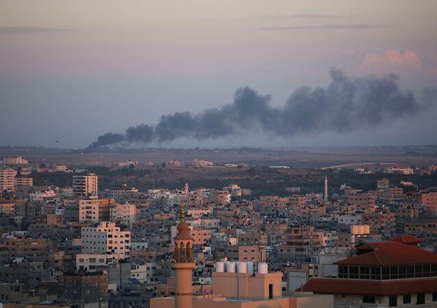 Bombardeo en la Franja de Gaza (archivo)