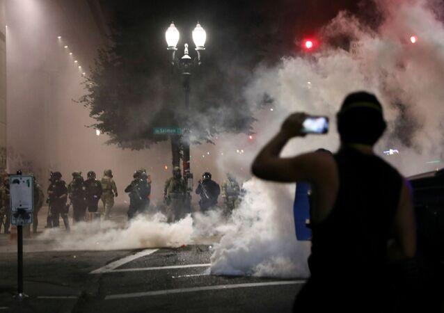 Protestas antirracistas en Portland, EEUU