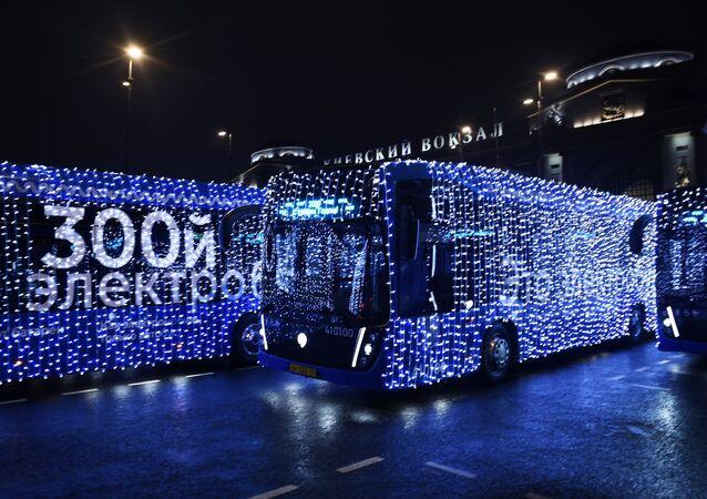 Electrobuses en Moscú, Rusia