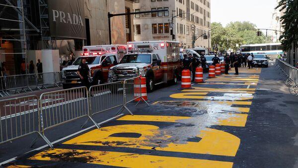 Servicios de emergencia y Policía de Nueva York - Sputnik Mundo