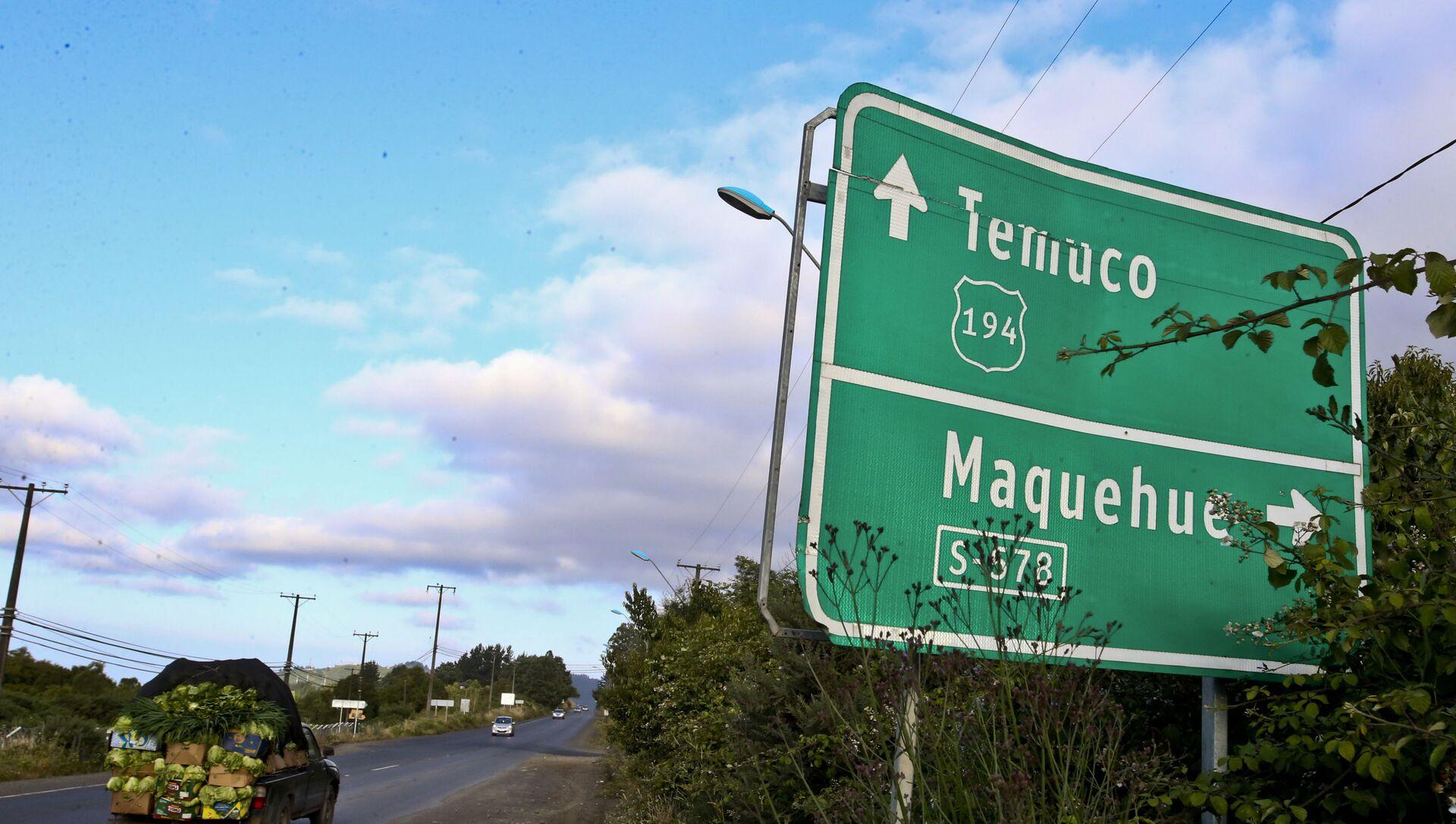 Una señal de dirección de tráfico en Chile  - Sputnik Mundo, 1920, 22.07.2020