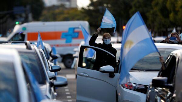 Protestas contra las medidas restrictivas por COVID-19 en Buenos Aires - Sputnik Mundo