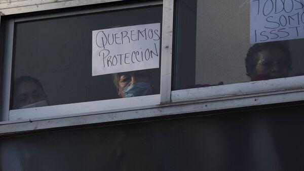 Trabajadores de sistema de salud mexicano exigen más protección frente al nuevo coronavirus - Sputnik Mundo