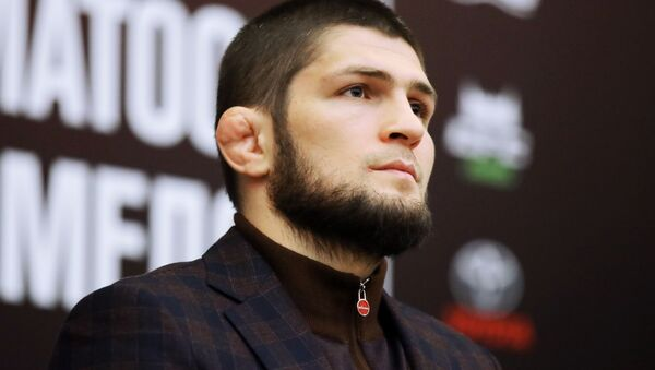 Khabib Nurmagomédov, luchador ruso de artes marciales mixtas - Sputnik Mundo