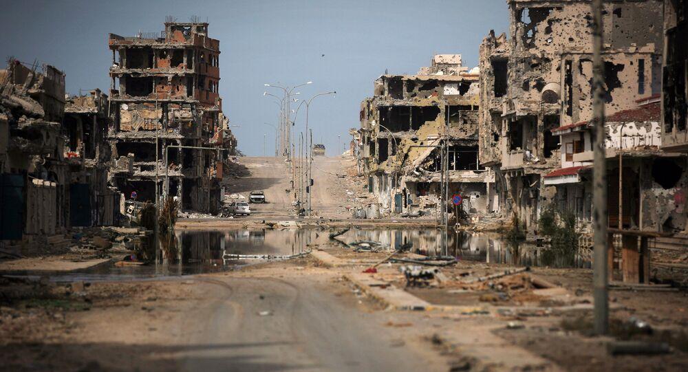 Las ruinas en la ciudad libia de Sirte