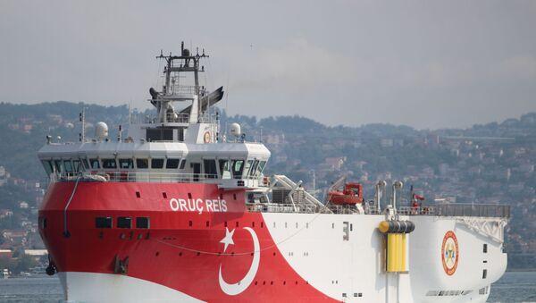 Un buque turco - Sputnik Mundo