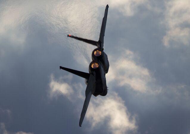 Un avión de caza F-15 israelí