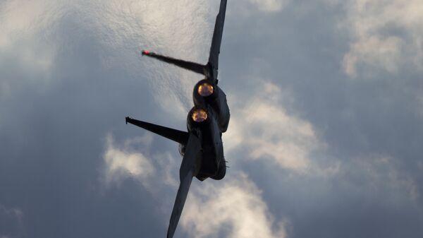 Un avión de caza F-15 israelí - Sputnik Mundo