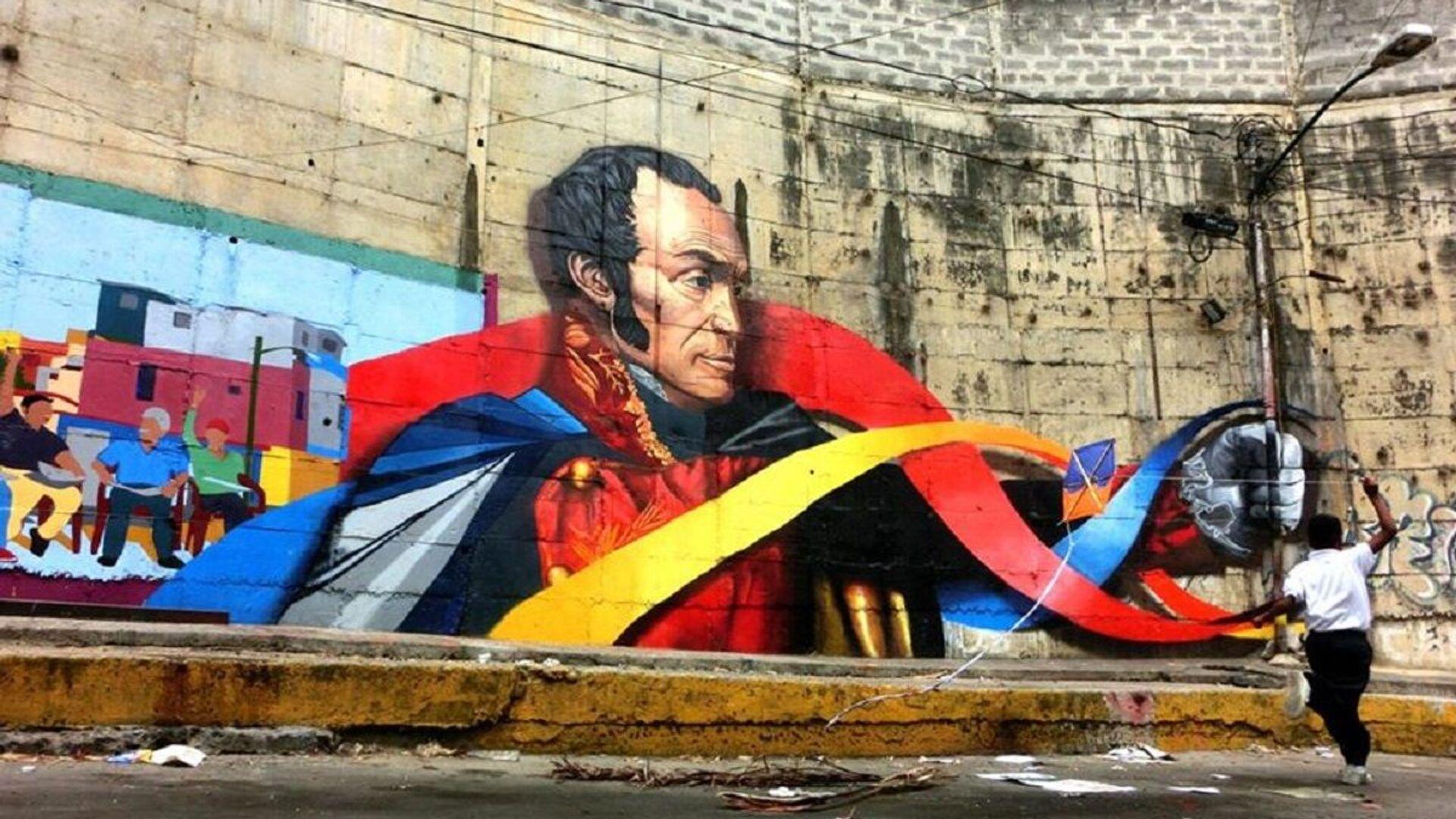 Mural de Simón Bolívar en Chapellín, Caracas - Sputnik Mundo, 1920, 25.06.2021