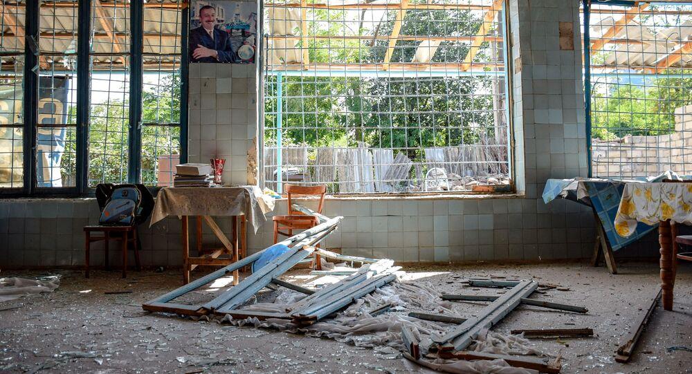 Consecuencias de un ametrallamiento en la frontera armenia-azerí