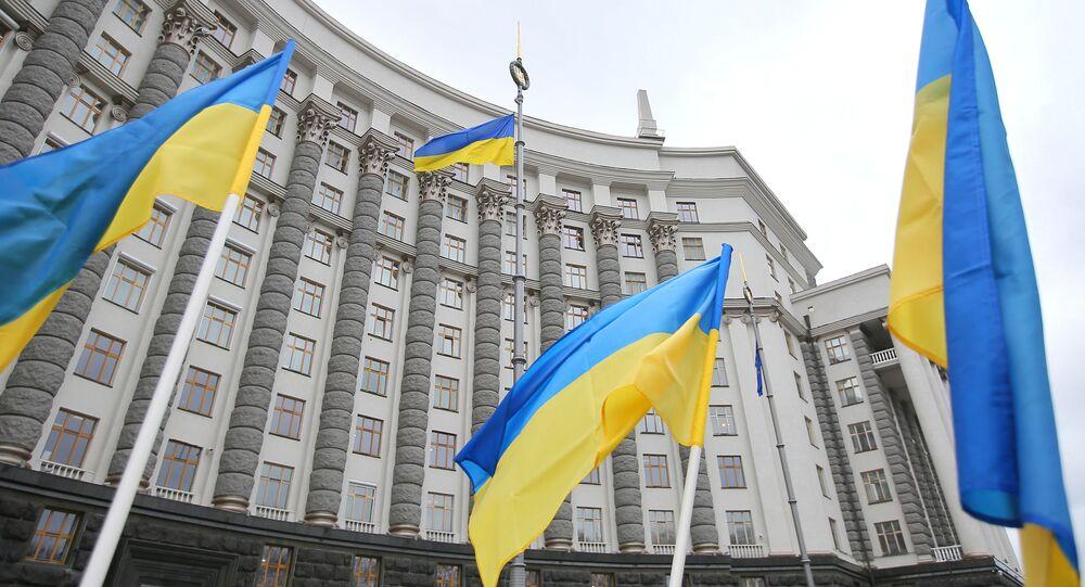 El edificio del Gobierno ucraniano en Kiev