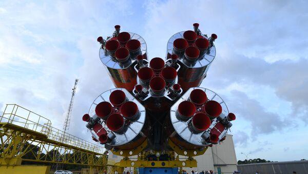 Un motor propulsor del cohete Soyuz-ST-B - Sputnik Mundo