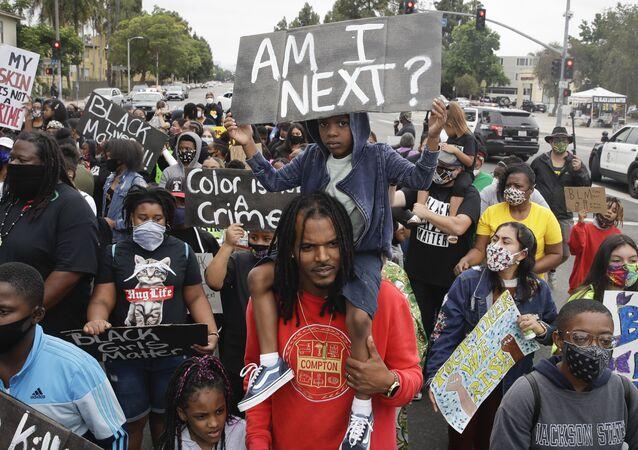 Protesta pacífica en Los Ángeles