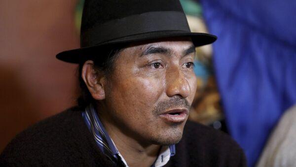 Leonidas Iza, dirigente indígena de Ecuador - Sputnik Mundo