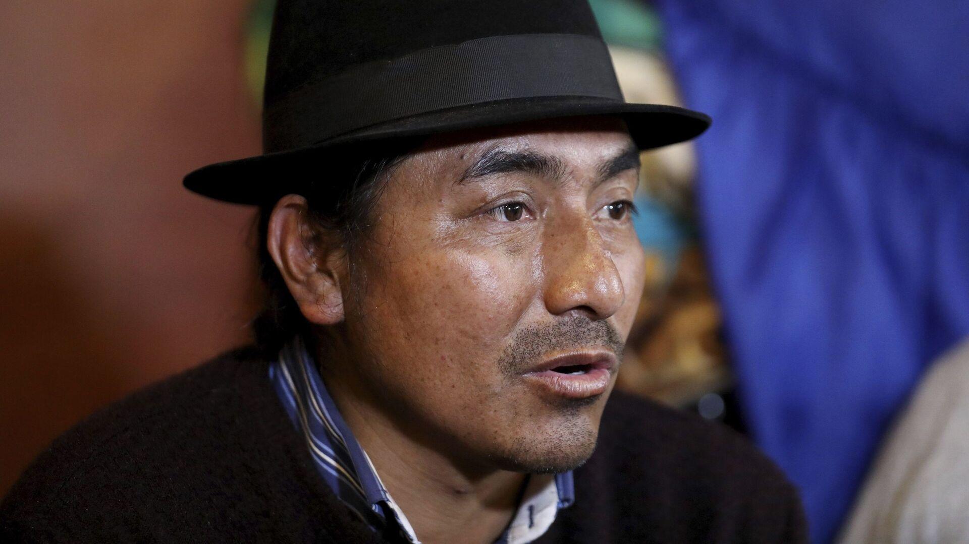 Leonidas Iza, dirigente indígena de Ecuador - Sputnik Mundo, 1920, 28.06.2021