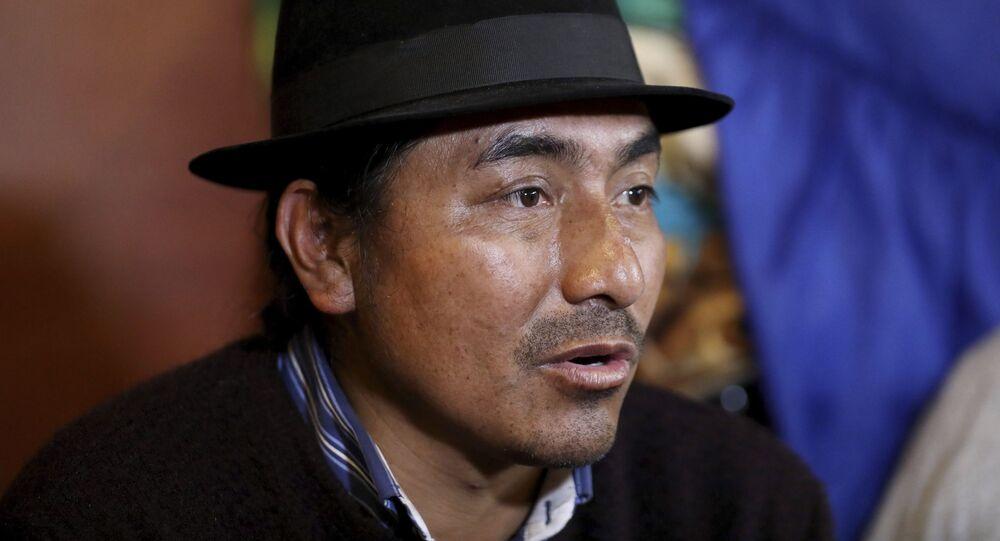 Leonidas Iza, dirigente indígena de Ecuador