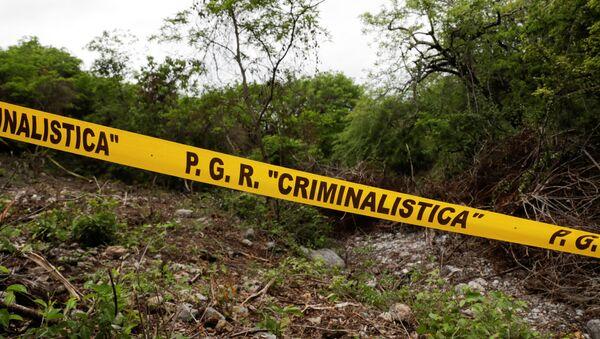 Barranca del Carnicero, lugar donde encontraron los restos de Christian Alfonso Rodríguez, uno de los 43 estudiantes desaparecidos de Ayotzinapa - Sputnik Mundo