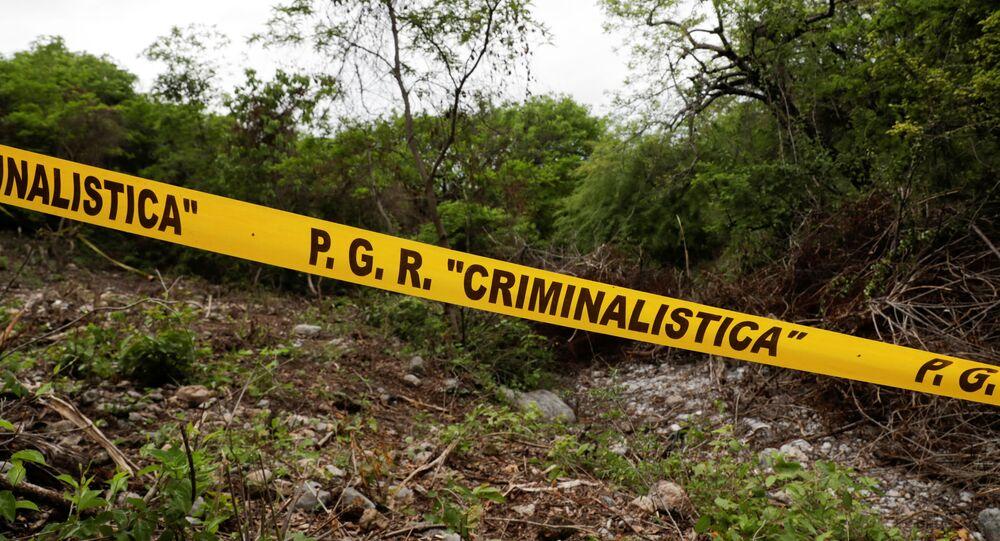 Barranca del Carnicero, lugar donde encontraron los restos de Christian Alfonso Rodríguez, uno de los 43 estudiantes desaparecidos de Ayotzinapa