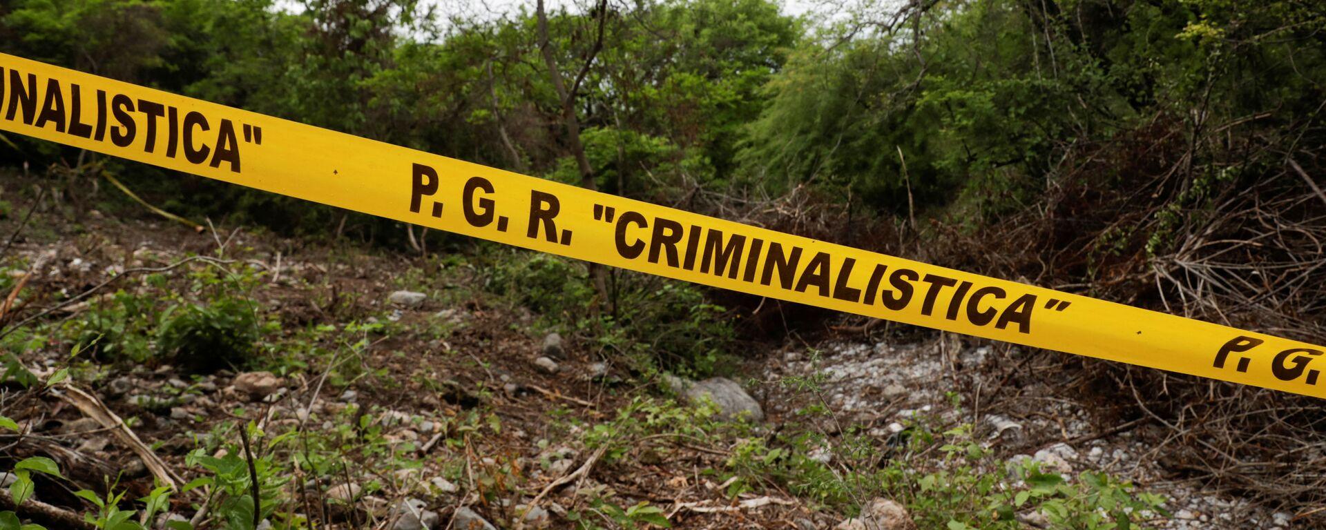 Barranca del Carnicero, lugar donde encontraron los restos de Christian Alfonso Rodríguez, uno de los 43 estudiantes desaparecidos de Ayotzinapa - Sputnik Mundo, 1920, 25.07.2020