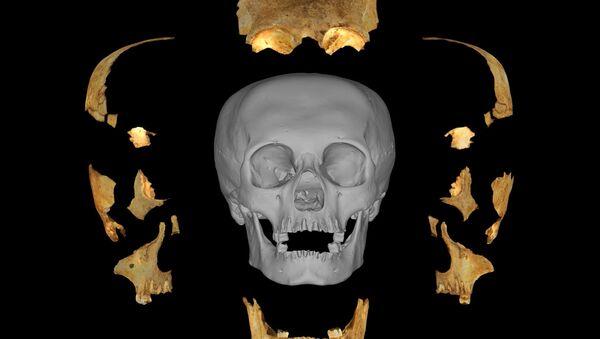 Modelo 3D del cráneo artificialmente deformado descubierto por Miguel Rodríguez Ferrer en Maisí (Cuba) - Sputnik Mundo