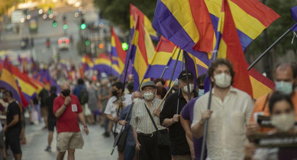 """Manifestación en Madrid contra el rey: """"La monarquía es antidemocrática y  está heredada del franquismo"""" - Sputnik Mundo"""
