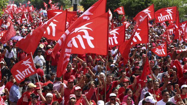 Simpatizantes del Frente Farabundo Martí para la Liberación Nacional en San Salvador, El Salvador - Sputnik Mundo