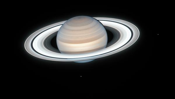 Una imagen de Saturno registrada por Hubble el 4 de julio de 2020 - Sputnik Mundo