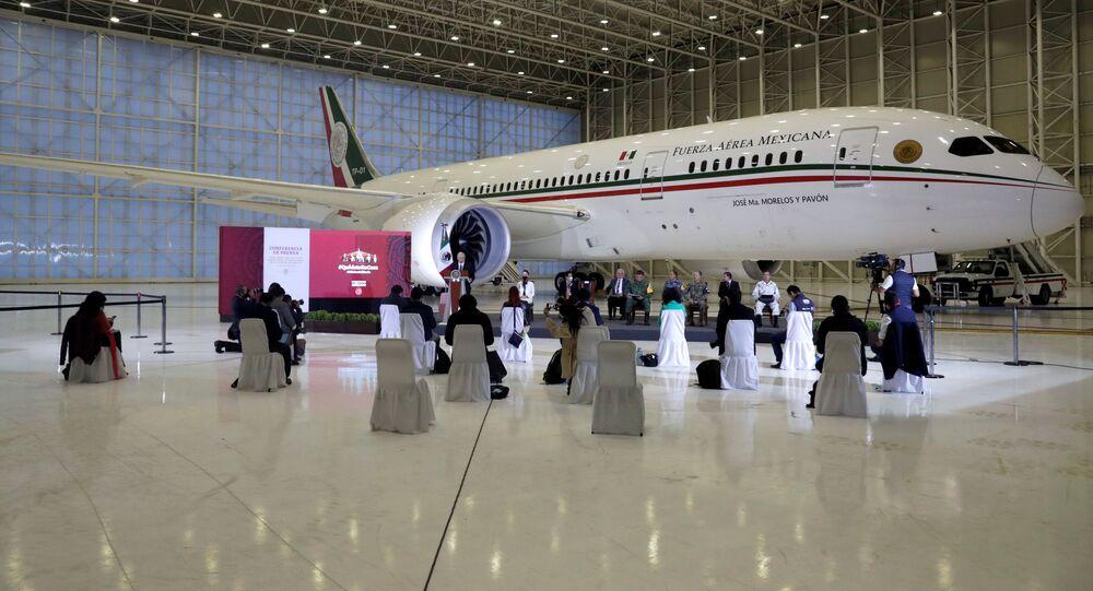 El avión presidencial mexicano el Boeing 787 José María Morelos y Pavón