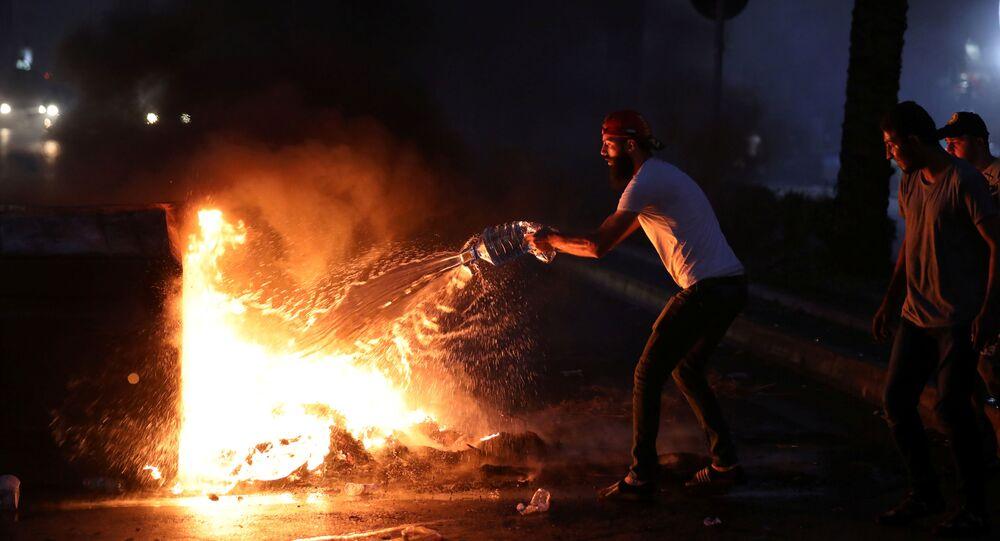 Protestas en Beirut, el Líbano