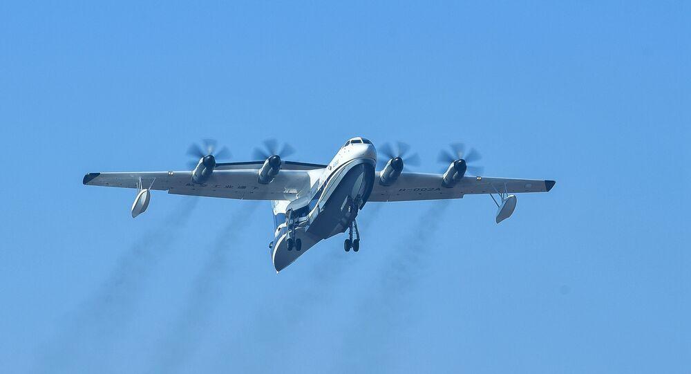 La aeronave anfibia AG600 de China