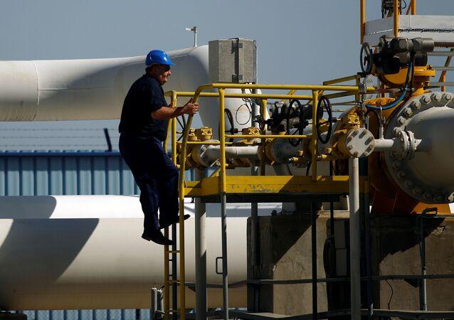 Un gasoducto en Bulgaria que va a Grecia