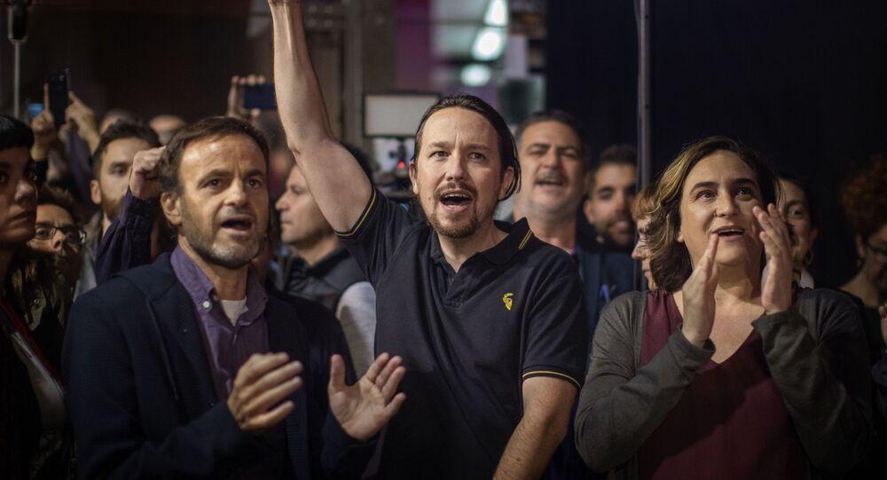 Dirigentes de Unidas Podemos. Barcelona, noviembre 2019