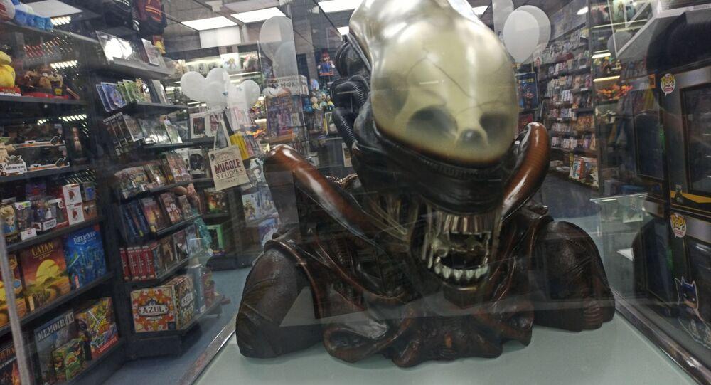 Interior de la tienda de cómics Nostromo