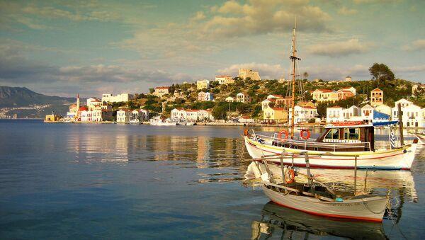 Isla de Kastelorizo en el mar Mediterráneo - Sputnik Mundo