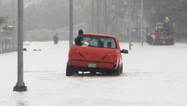 Consecuencias del ciclón Hanna en México - Sputnik Mundo
