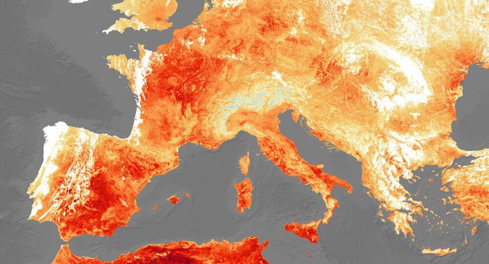 Una imagen referencial de Europa durante una ola de calor