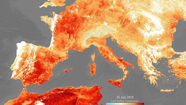 Una imagen referencial de Europa durante una ola de calor - Sputnik Mundo