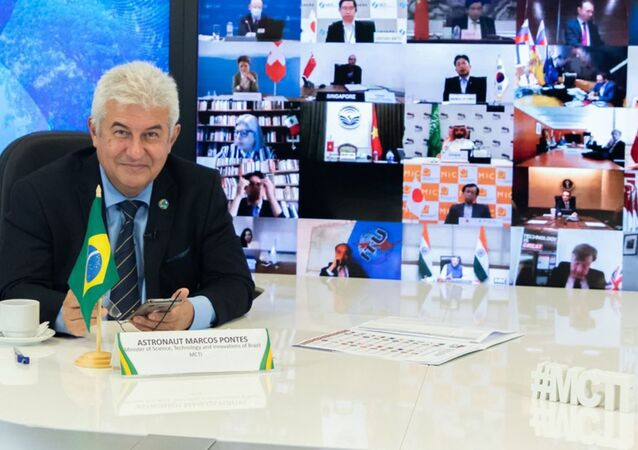 El ministro de Ciencia y Tecnología de Brasil, Marcos Pontes