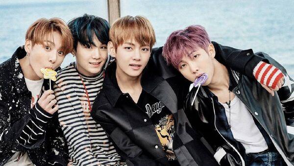 Los integrantes de BTS, grupo del k-pop - Sputnik Mundo