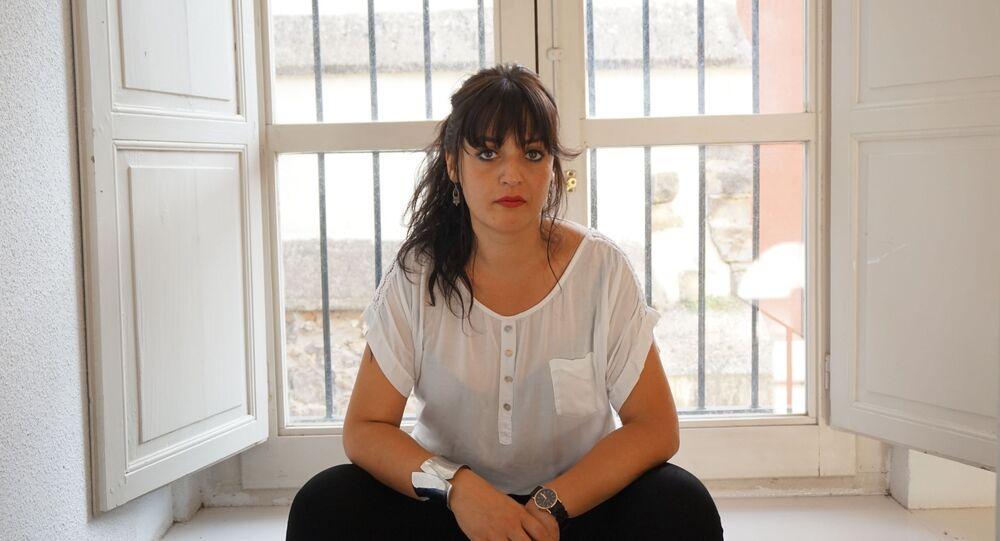 La activista Amelia Tiganus, víctima de trata en España