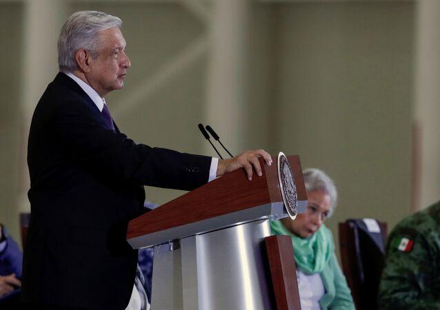 Andrés Manuel López Obrador, presidente mexicano