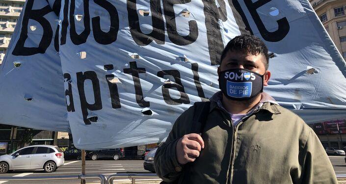 Walter Córdoba, coordinador de la organización Barrios de Pie