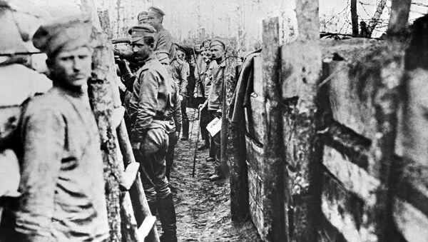 Soldados rusos durante la Primera Guerra Mundial - Sputnik Mundo